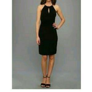 Vince Camuto Black Keyhole Jersey Dress
